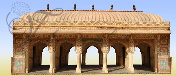Classical Age old India Temple Pillars Backdrops Banner Print Photo Quality Indian Stage decoration