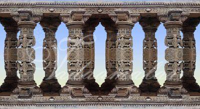 Stage decoration Pillars Photo Quality Print India weddings dance performances