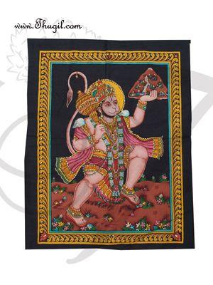 Lord Hanuman poster on unframed cloth printed
