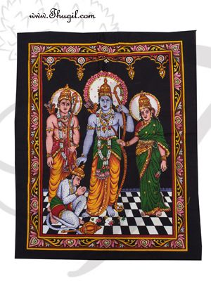 Lord Ramar poster on unframed cloth printed