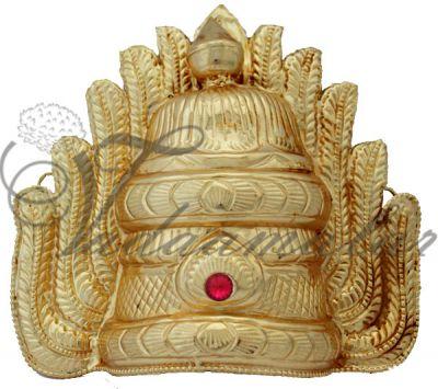 SMALL Online Deity Mari Amman Durga Sudar kireedam Crown Indian Goddess