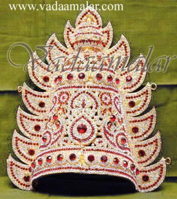 "9"" Amman Durga Devi Stone Idol Goddess Crown"