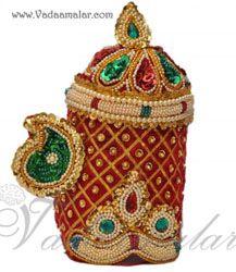 Lord Krishna Kanna Hindu God Crown Mukut Accessories