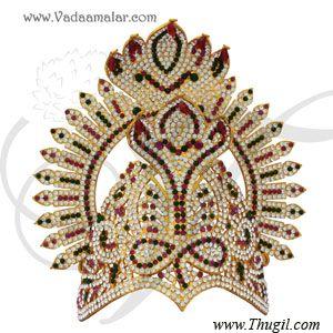 Snake Mukut Amman Head Crown Indian Kreedam Accessories Goddess
