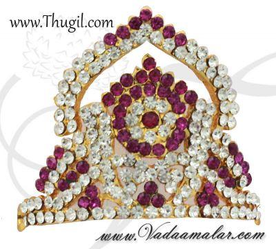 1.7 inch Small size Hindu Deity Crown Mukut Half Kreedam Head Ornaments
