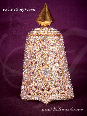 3 inch Small size Full Hindu Deity Half Shringar Crown Mukut Kreedam Head Ornaments