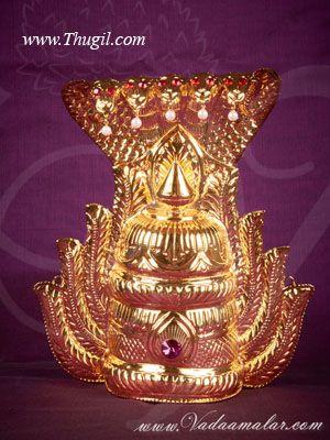 10 inch Hindu Deity MariAmman Durga Sudar kireedam Crown Indian Goddess