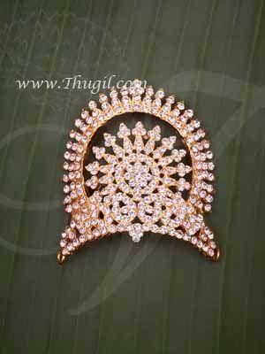 "2.5"" Small Size Hindu Deity Half Crown Mukut Kreedam Head Ornaments Buy Now"