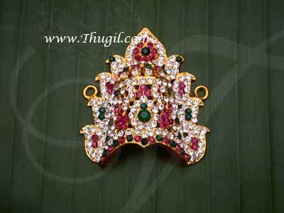 """2.2"""" Small size Hindu Deity Amman Sudar Kreedam Head Ornaments Buy Now"""