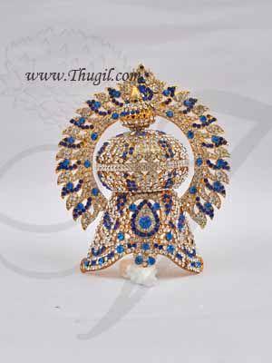 7.5 Inch Indian God and Godess Deity Crown Kreedam Accessories Hindu Idol