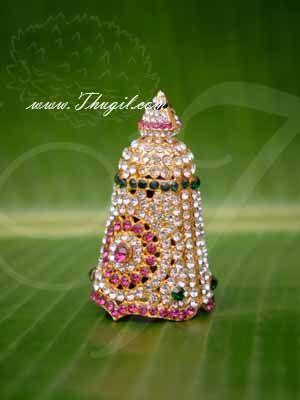 "Kireedam Full Crown Small Mukut For Hindu God Goddess Buy Now 2.8"""