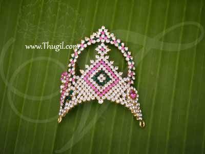 Crown For Gods Hindu Murthy Mukut Kreedam Alangaram Buy Now 2.5 Inches