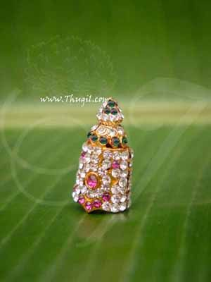 Kireedam Full Crown Small Mukut For Hindu God Goddess 1.4 Inches Buy Now