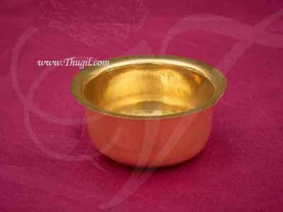 Small Brass Kumkum Chandan Cup Pooja Buy Now 2 inches