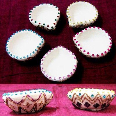 Simple Indian Clay Diyas
