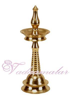 """15"""" Malabar Oil Lamp  in Brass"""