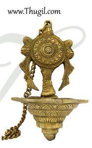 Chakara Hanging Brass Diya Oil Lamp