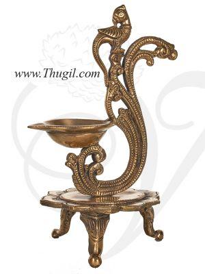 """8.5"""" Annam Bird Diya Standing Brass Diya Diyas Puja"""