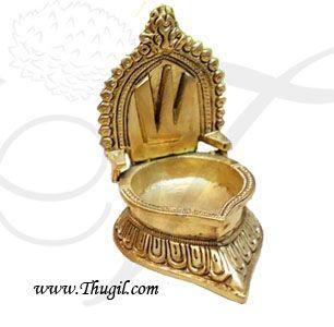 "4.5"" Buy Online Brass Vishnu Deepam Lamp Diya Vilakku"