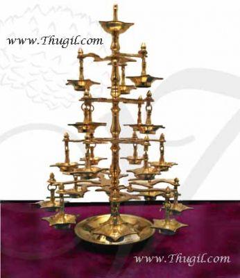 "Brass Deepams Diya Tall Multi Step Ratha Harrathi Lamp Buy Now 25"""