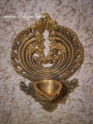"7.5"" Brass  Wall Hanging Lamp Diya"