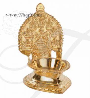 "6"" Brass Ashtalakshmi Diya Lamp Vilakku  Buy Now"