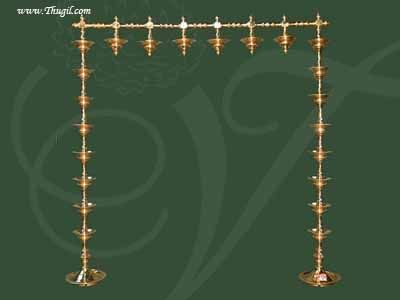 2.5 feet Vasal Malai Vilakku in Brass for Temples and Puja Room - buy now