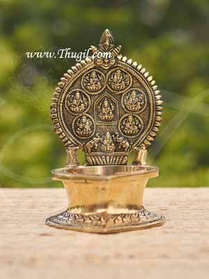 7 inches Unique Brass Ashtalakshmi Diya Lamp Vilakku  Buy Now