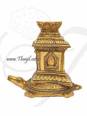 "Tortoise Diya Tulasi Madam Brass Lamps from India Buy Online 4"""