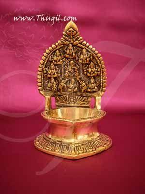 "Unique Brass Ashtalakshmi Diya Lamp Vilakku  Buy Now 5.5"""