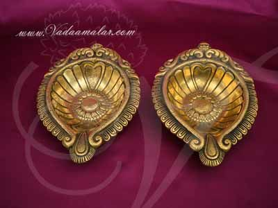 "6"" Brass Diya Vilakku Deepam Diyas Buy Now 2 pcs"