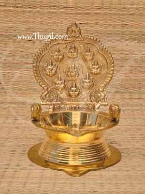 "Ashtalakshmi Unique Brass Diya Lamp Vilakku  Buy Now 8x6"""