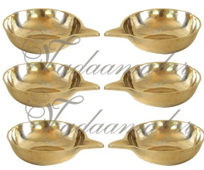 """0.7"""" Small size Kuber Diya Lamp in Brass Buy Now - 6 pieces"""