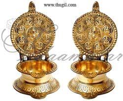 Buy Online Brass Ashtalakshmi Lamp Diya Vilakku