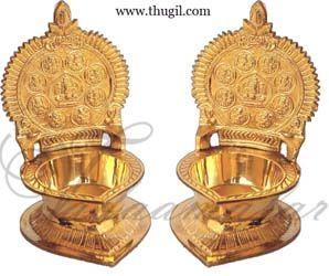 Buy Online Brass Ashtalakshmi Lamp Diya Vilakku - 1 piece