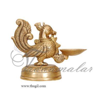 """4"""" Bird Diya Swan Brass Diya Diyas Decoration"""