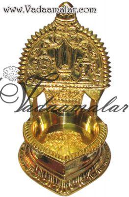 "7"" Buy Online Brass Vishnu Deepam Lamp Diya Vilakku"