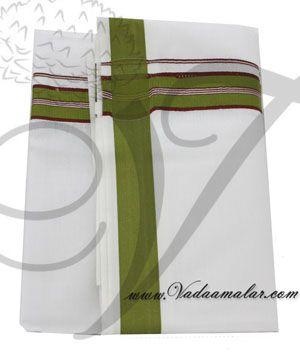 Pure Cotton White Dhoti Dothi Puja Festivals Wedding