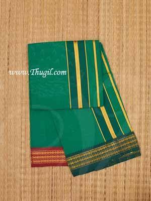 1.80 Meters Hindu Puja Green Cotton Dothi Dhoti Vesti Chadar
