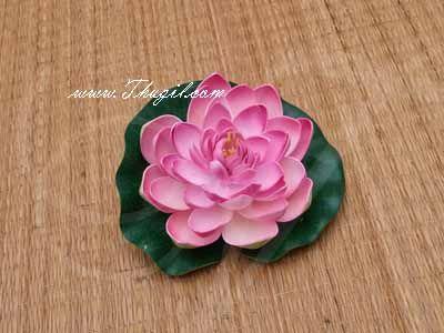 Pink Lotus Artificial Flower Floating Aquarium Pond Decor Floating Buy Now