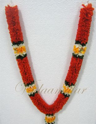 """20"""" one side Garlands Orange artificial flower synthetic cloth garland"""