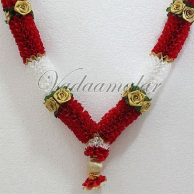 Artificial flower garland Red and White synthetic garlands flowers - 2 pieces