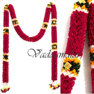 Door way Garlands home decorations synthetic Indian garland washable Pink