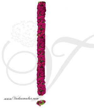 1 meter Rose Flower Toran Door Hanging Decoration Synthetic Cloth - Washable