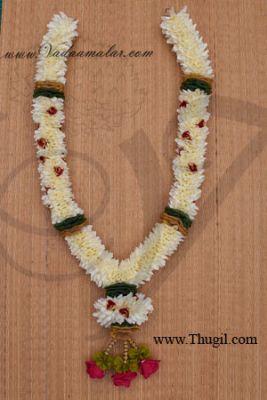 2 pieces Wedding synthetic jasmine garlands maala garland