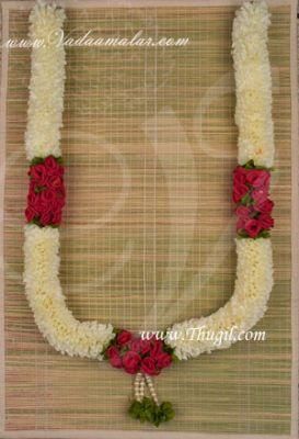 """28"""" Jasmine Artificial Flower Garland Deity Garlands - 2 pieces"""