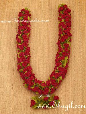 """Maroon Color Wedding synthetic rose garlands maala garland - 1 piece 24"""""""