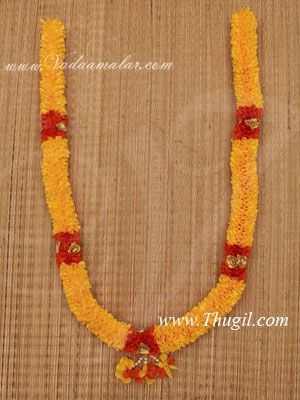 """33"""" Mango Yellow Color Artificial Synthetic Flower Garlands"""
