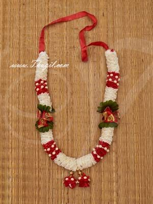 """13"""" White and Red Color Artificial Synthetic Flower Garlands"""