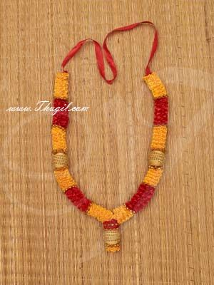 """14"""" Yellow and Red Color Artificial Synthetic Flower Garlands"""